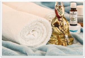 Spa towels and oil